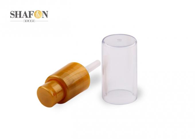 Injection Color Cosmetic Treatment Pumps With Overcap Orange Surface