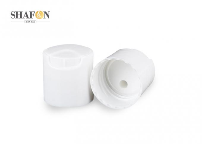 Plastic Disk Top Cap 24 / 410 , Shampoo Bottle Smooth Disc Top Closures