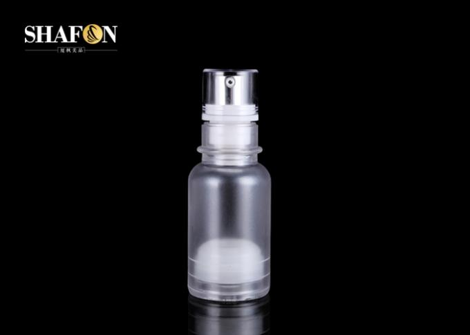 PP Brown Refillable Airless Cosmetic Bottles 50ml With Sprayer Pump Top