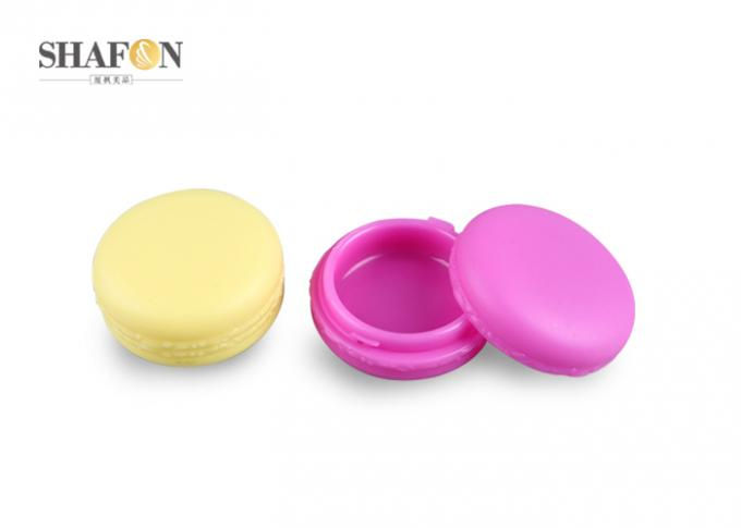 Macaroon Shape Plastic Cosmetic Jars Small Capacity 10g SGS Certification