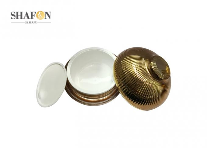 Onion Shape Plastic Cosmetic Jars With Lids , Empty Cosmetic Containers Painting Surface