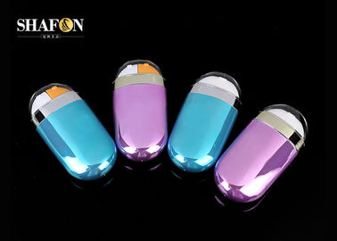 Blue / Rose Color Empty Foundation Bottle 70ml Painting Surface Eco - Friendly