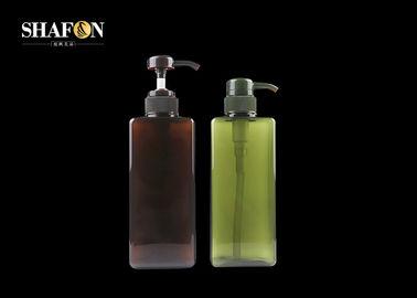 Customized Cuboid PETG Plastic Bottles 650ml For Lotion SGS Certification