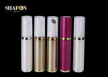 Plating PP Cosmetic Empty Rollerball Bottles , BPA Free Small Roller Ball Bottles