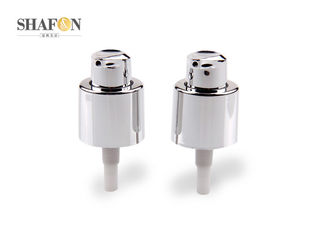 18 / 415 Plated Cosmetic Treatment Pumps For Cream Bottle Custom Color