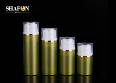 Empty Green Lotion Bottle Containers , Fancy Cosmetic Bottles With Cap 80ml