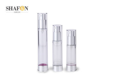 Transparent Body AS Airless Cosmetic Bottles 30ml For Skin Care ISO9000 Certification