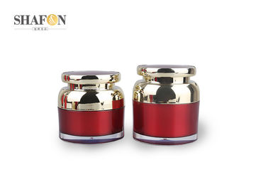 PMMA Cream Jars Cosmetic Packaging , Red Empty Lotion Jars For Skin Care