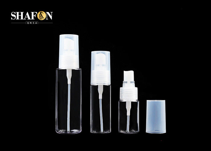 Refillable Perfume PETG Plastic Bottles With Ribbed Cap 50ml Outer Spring