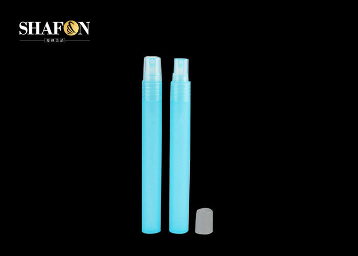 Cosmectic Refillable Perfume Pen 10ml Blue Color With 20 / 410 Sprayer Pump