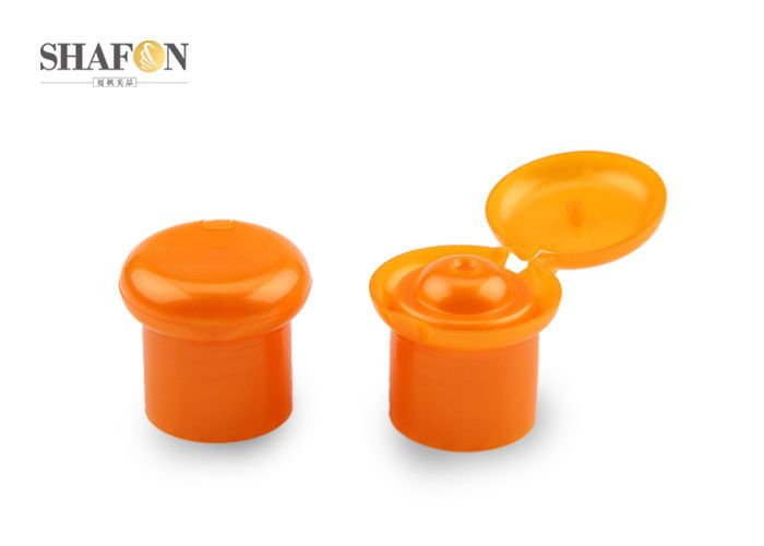 Customized Color Plastic Flip Top Caps , Plastic Jar Caps Simple Design SF - C9300