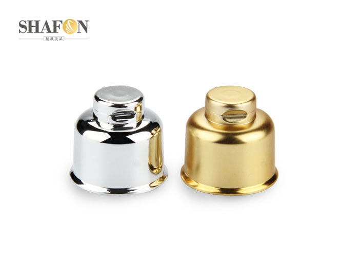 Plated Flip Top Cosmetic Bottle Caps Silver / Gold Color 24 410 Eco - Friendly