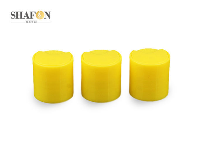 Smooth Yellow Shampoo Bottle Cap 24 / 410 Disc Style ISO 9000 Certification