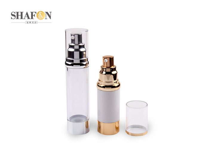 PMMA Material Airless Cosmetic Bottles For Toning Water 34mm Diameter
