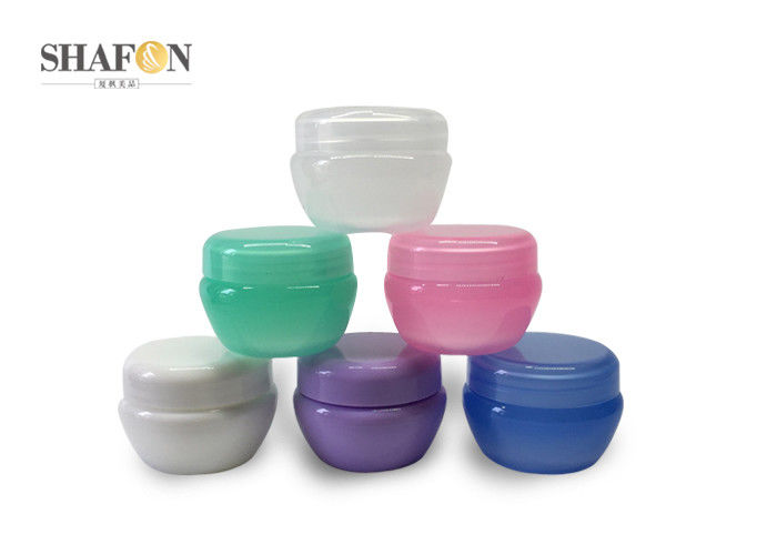 Smooth Surface Plastic Cosmetic Containers , Skin Care 5g Small Plastic Jars