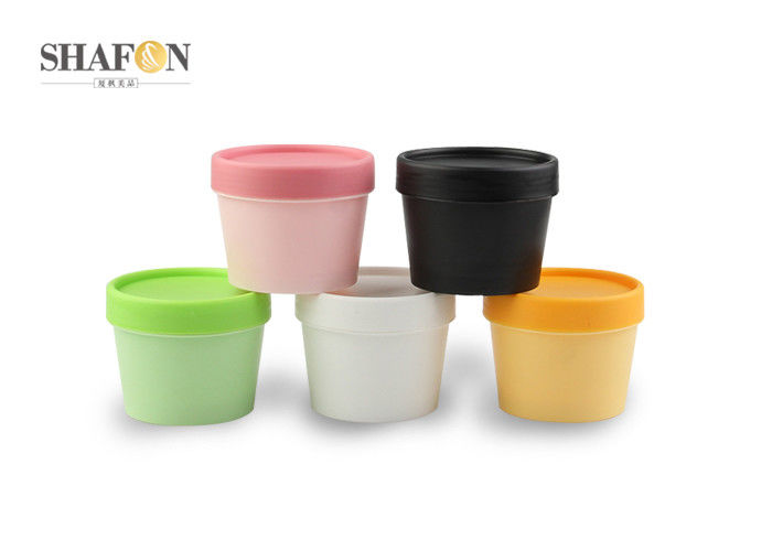 PP 100g Plastic Cosmetic Jars For Facial Mask Powder Flowerpot Shape