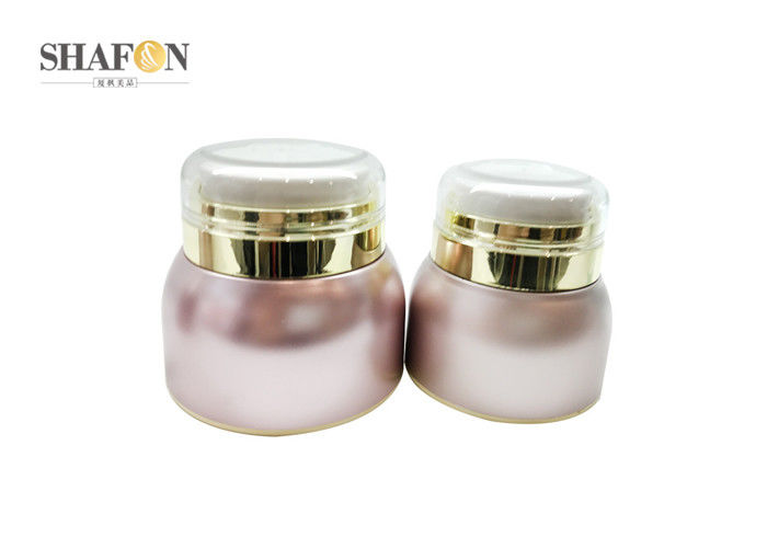 Customized Plastic Cream Cosmetic Jar For Face Cream SGS Certification